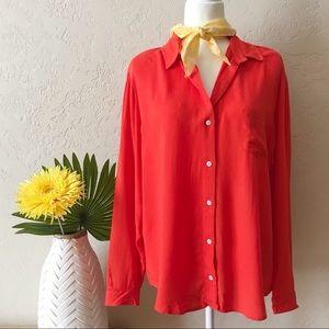 ANTHRO • lili's closet fiery orange blouse 🔥